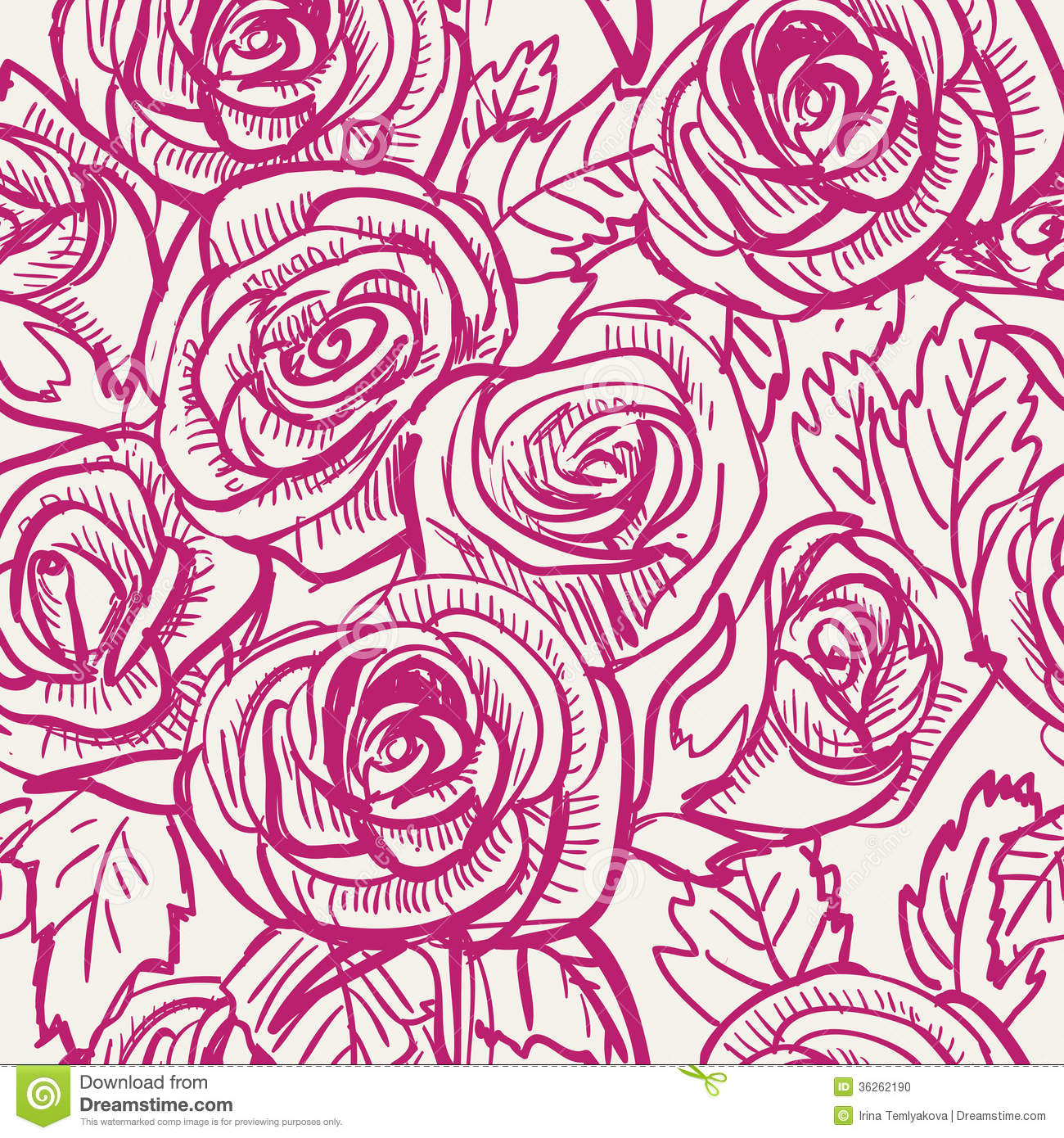 15 Vector Rose Pattern Images - Rose Vector Pattern, Pink ...