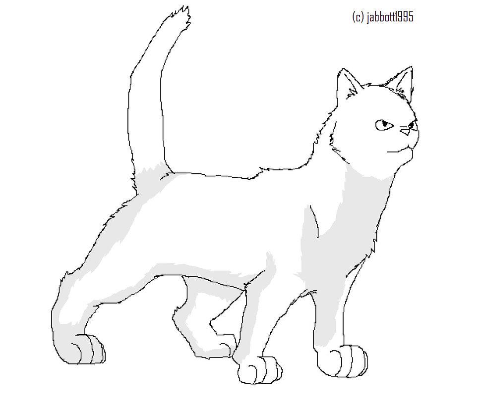 Warrior Cats Line Art