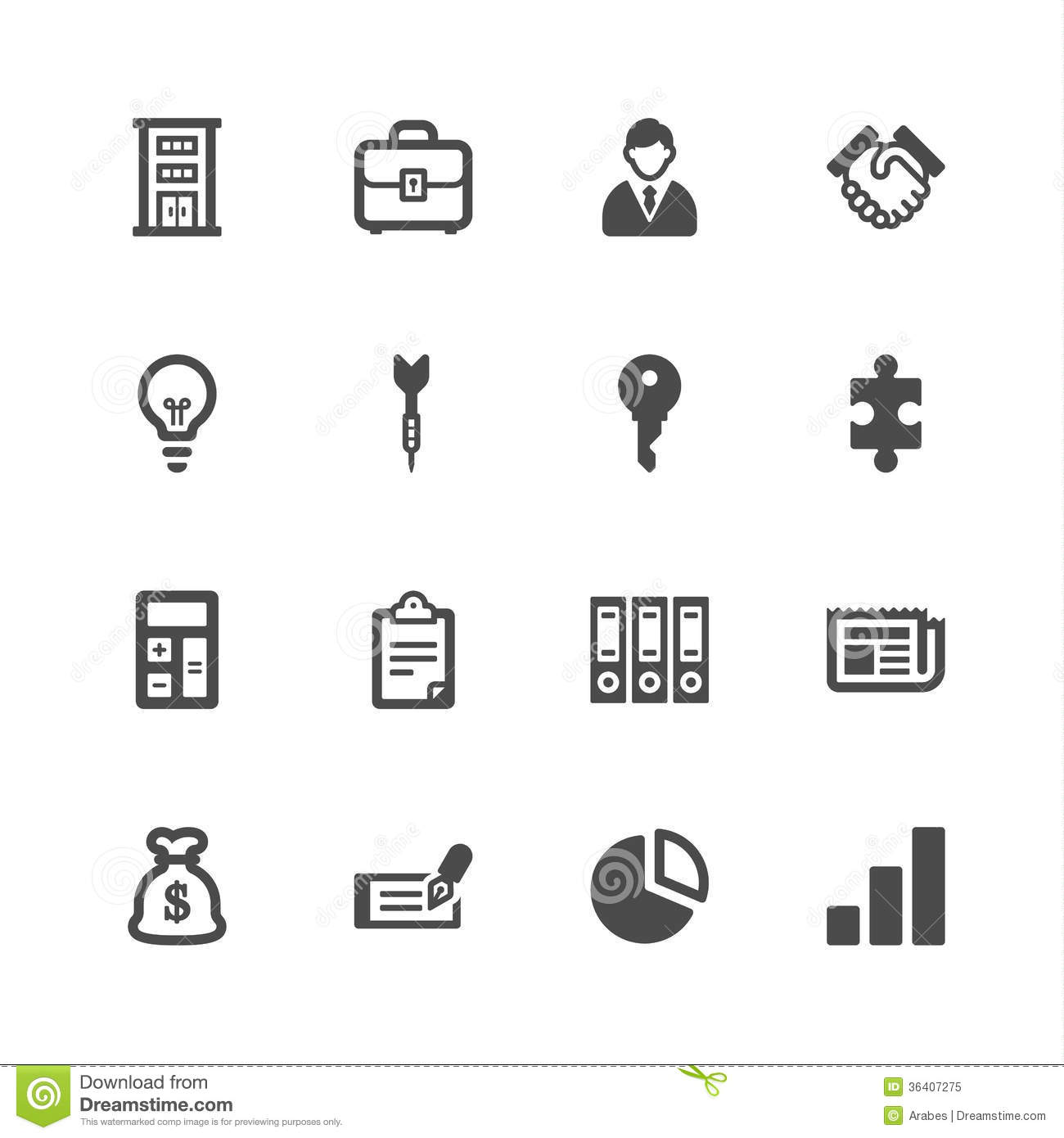 White Business Icons Free