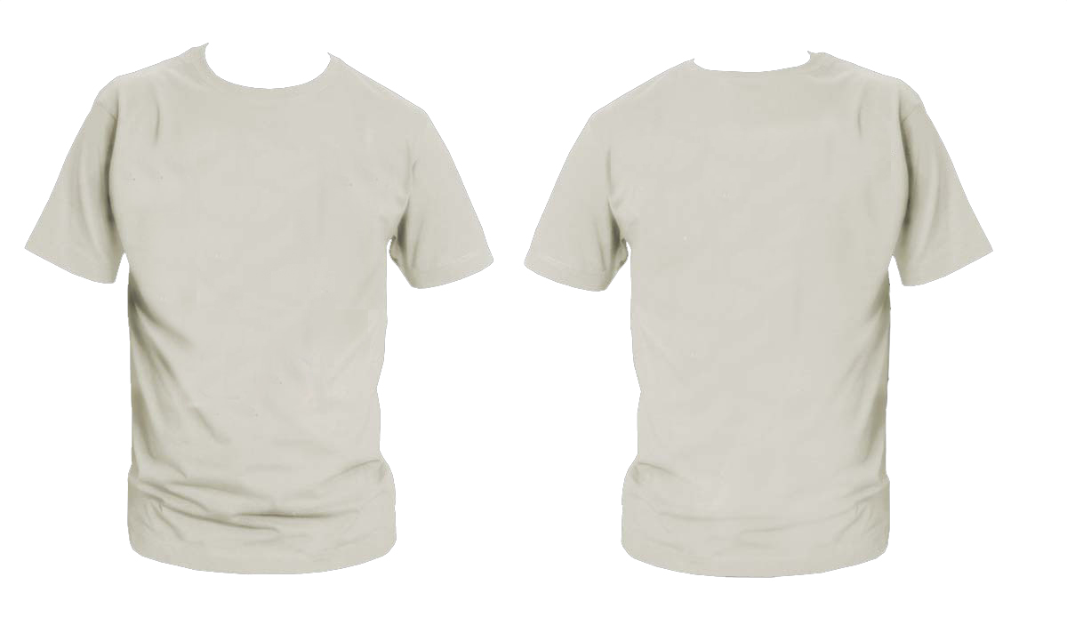 Plain gray t shirt back and front kamos t shirt for Back t shirt template
