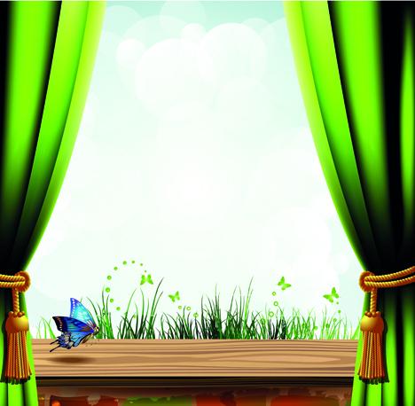 Window Curtain Clip Art