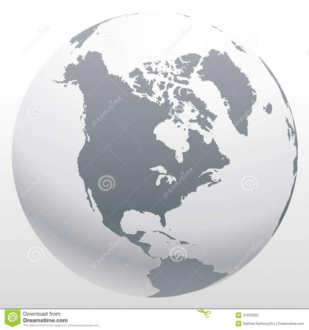 World Globe Map Graphic