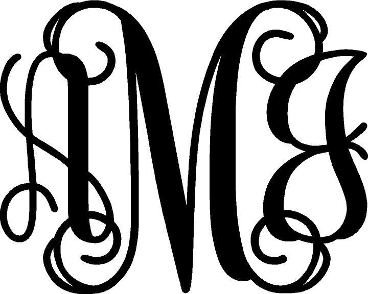 10 interlocking monogram font free download images for Free monogram template