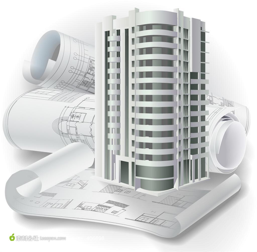 3D Building Construction Drawing