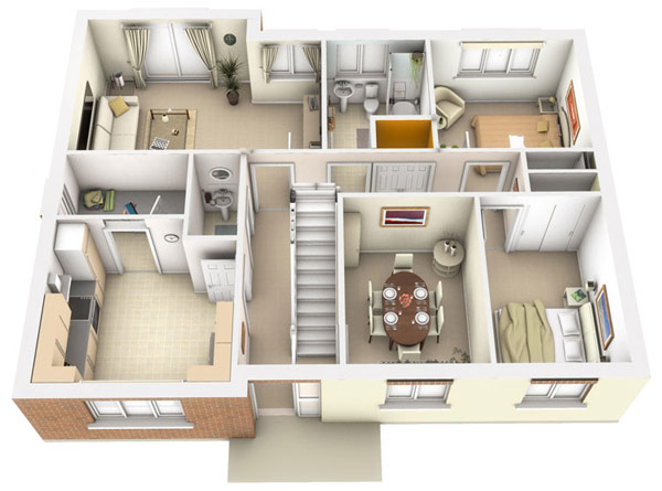 3D Interior Architectural Design House Plans