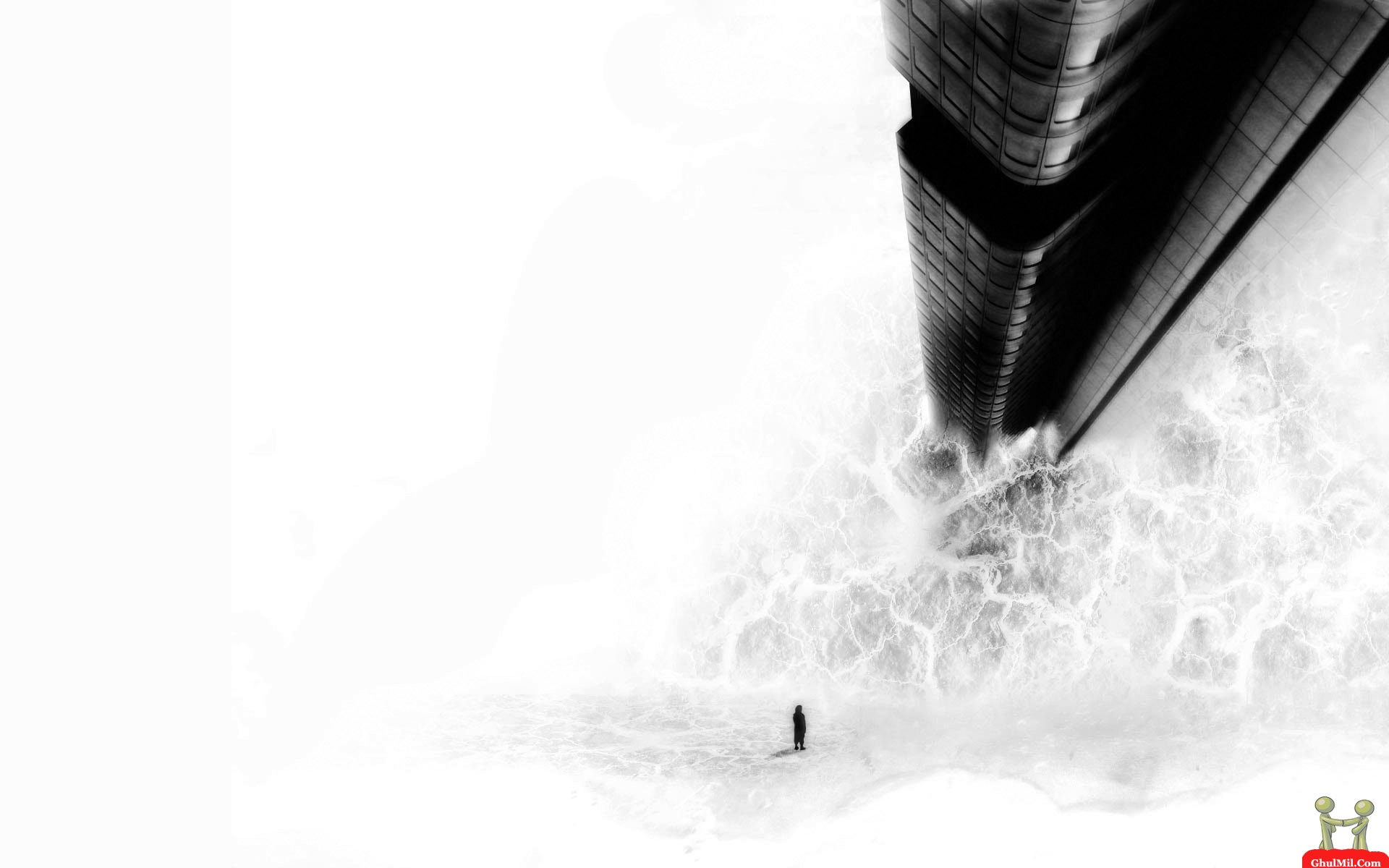 Amazing 3D Wallpapers Black and White