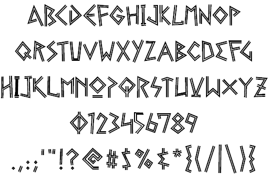 Ancient Greek Writing Font