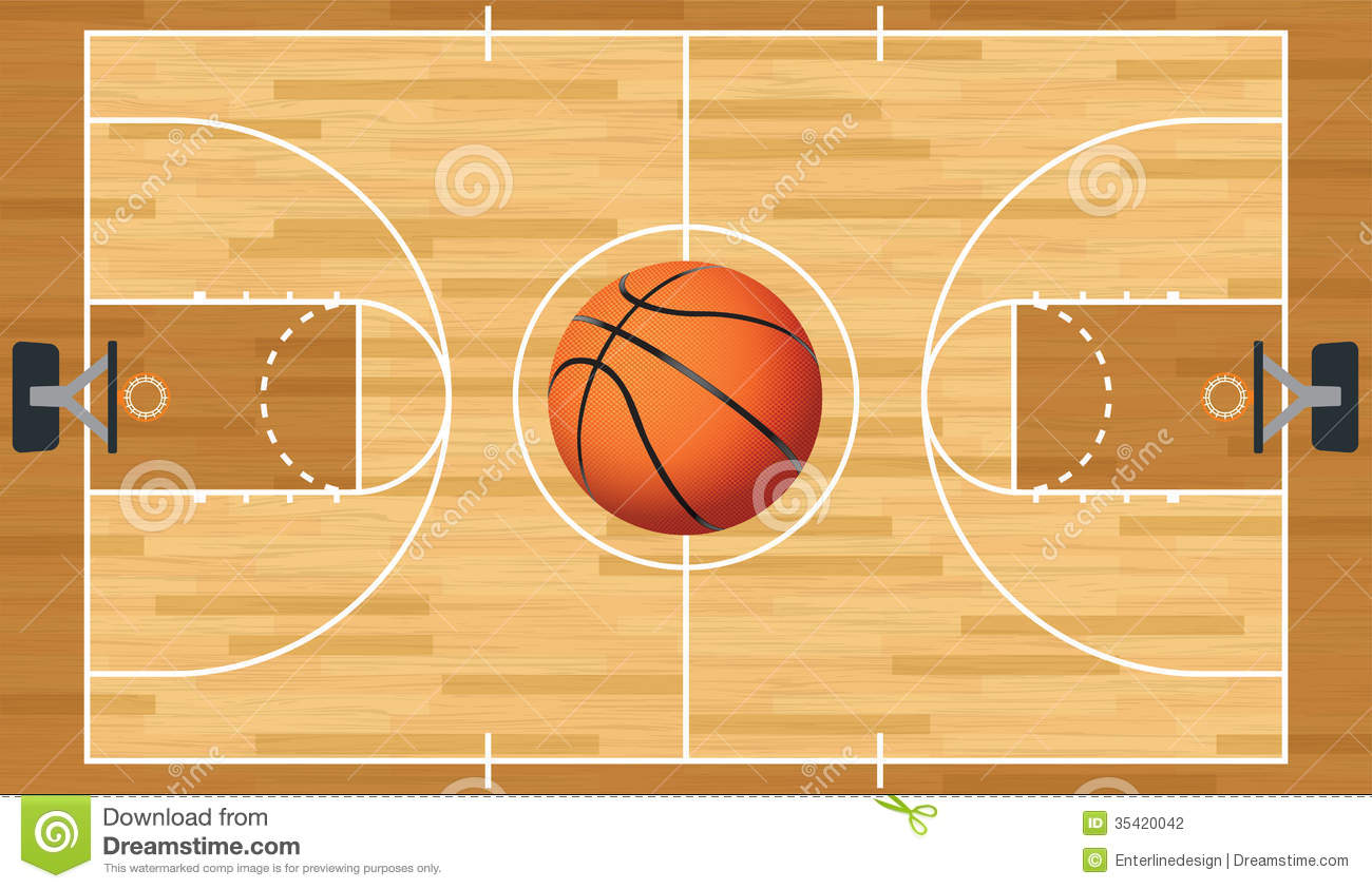 15 Vector Basketball Court Clip Art Images