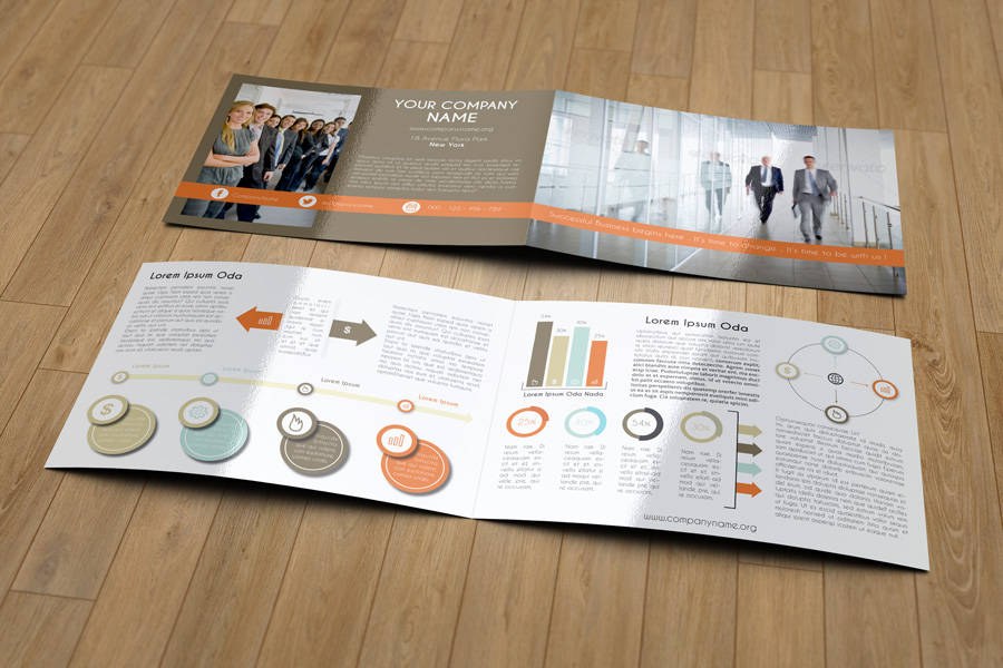 Bi Fold Brochure Mock Up