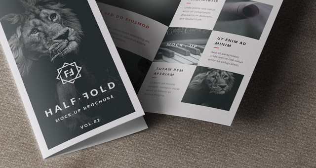 8 Bi Fold Brochure Mock Up Psd Images