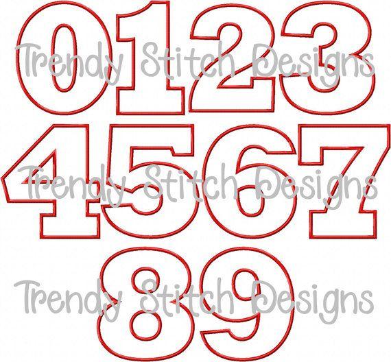 11 Fancy Font Number Block Images