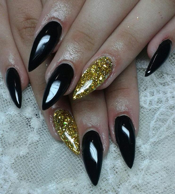 Gold and black nail designs graham reid nail designs gold and black choice image nail art and nail gold and black nail designs prinsesfo Choice Image