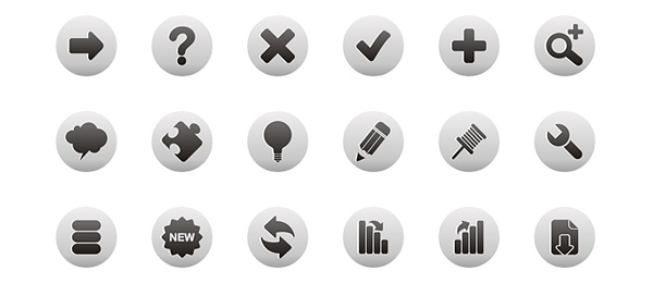 8 Black And White Web Icons Images
