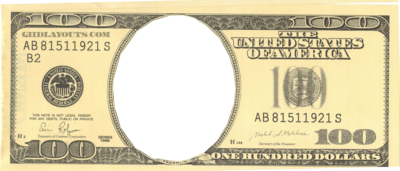 Blank 100 Dollar Bill Template