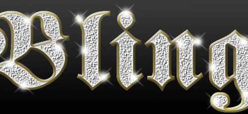 Bling Diamond Photoshop Text Fonts