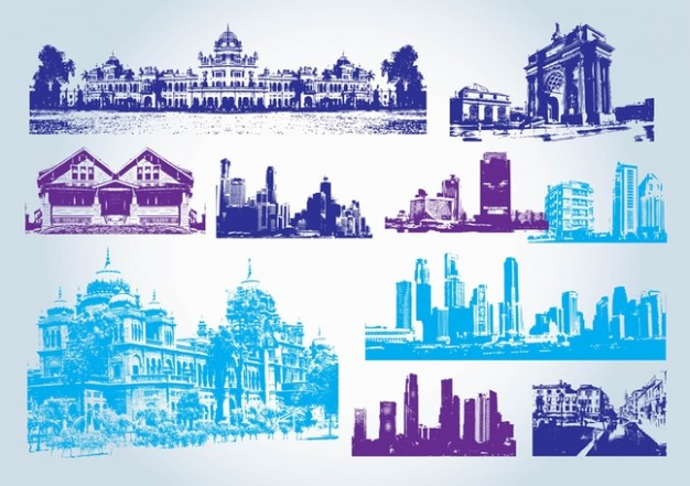 19 Free Vector Clip Art Buildings Images