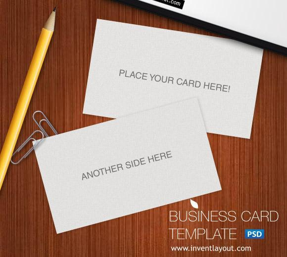 12 Business Card Mockup PSD File Images