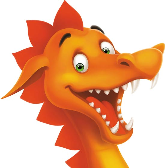 Cartoon Dragon Face