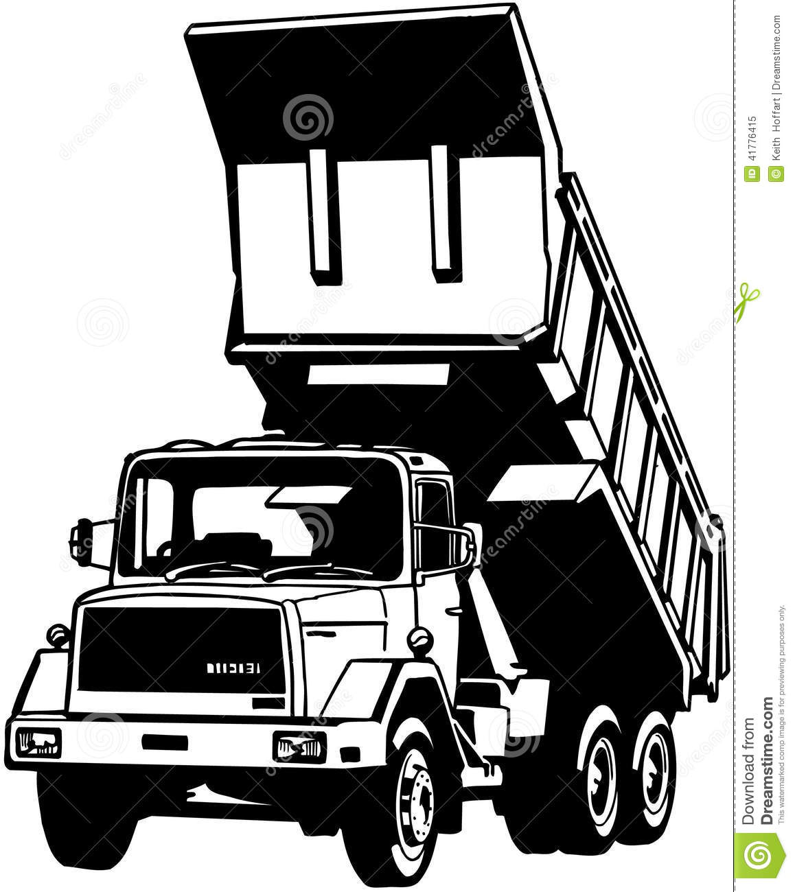 Cartoon Dump Truck Clip Art