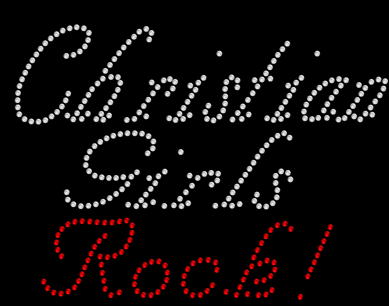 Christian Girls Rock Rhinestone Transfers
