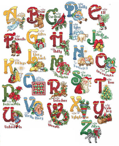 16 Christmas Alphabet Fonts Images