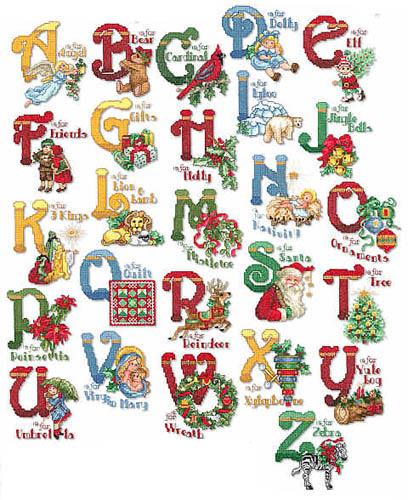 16 Christmas Alphabet Fonts Images