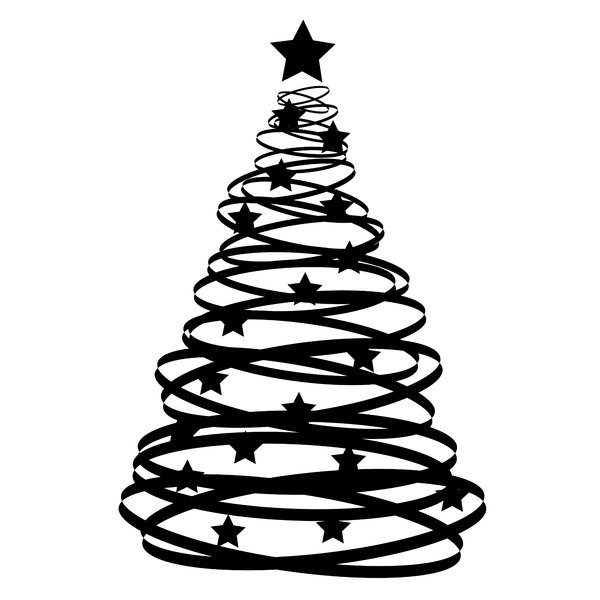 Christmas tree vector graphics images