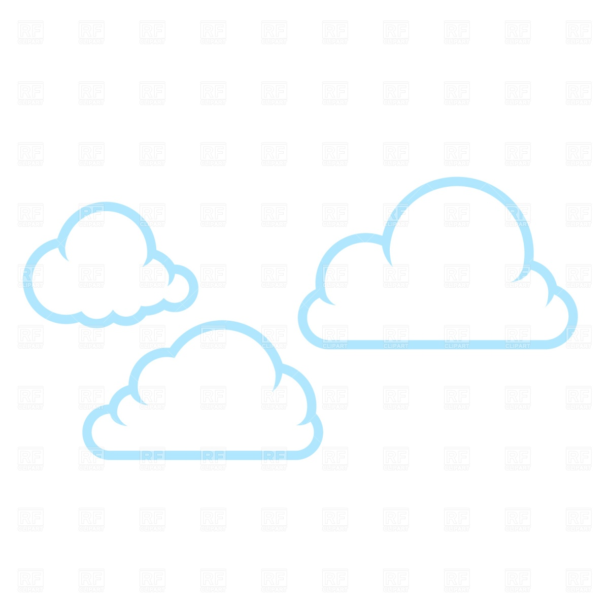 12 Cloud Vector Clip Art Images