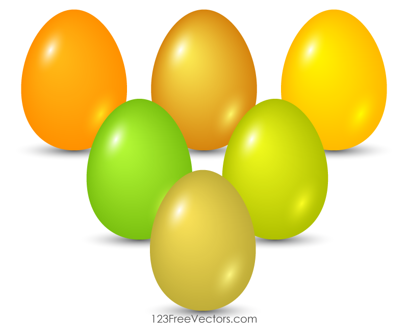 Colorful Easter Egg Graphics Free