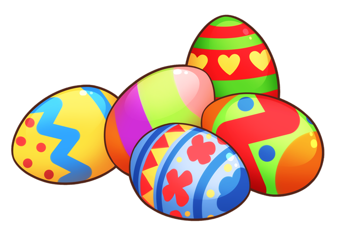 Colorful Easter Eggs Clip Art