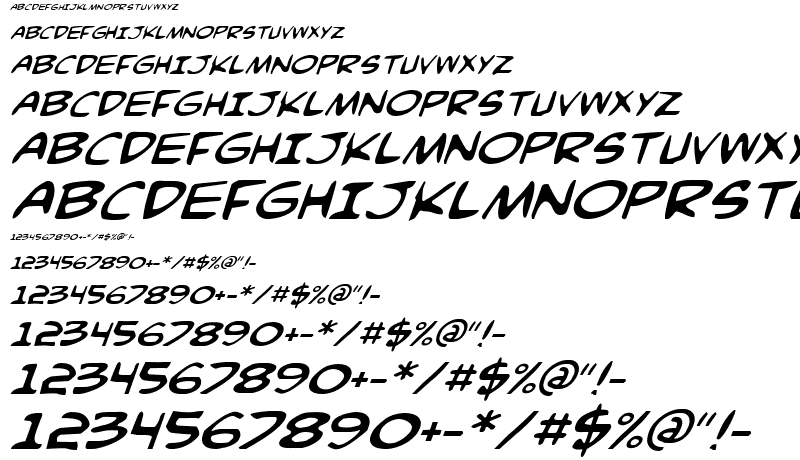 Comic Book Fonts Free Download
