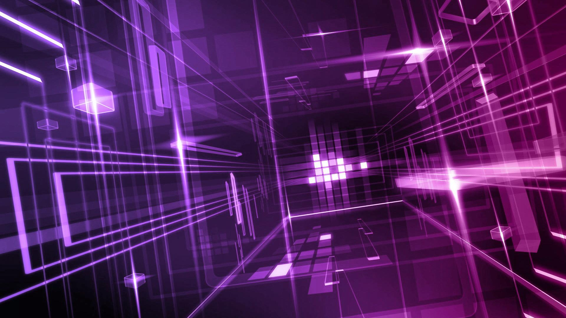 Cool 3D Wallpaper Purple Design