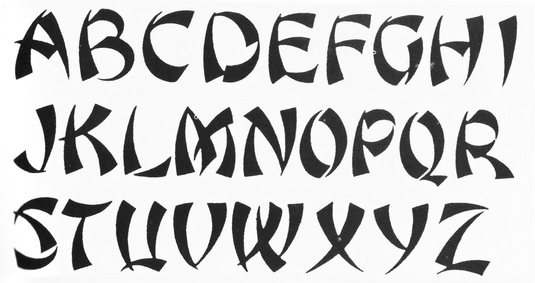 Cool Tattoo Fonts Alphabet