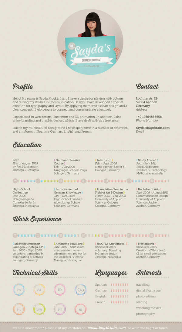 14 Interesting Resume Designs Images
