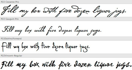 Cursive Handwriting Fonts