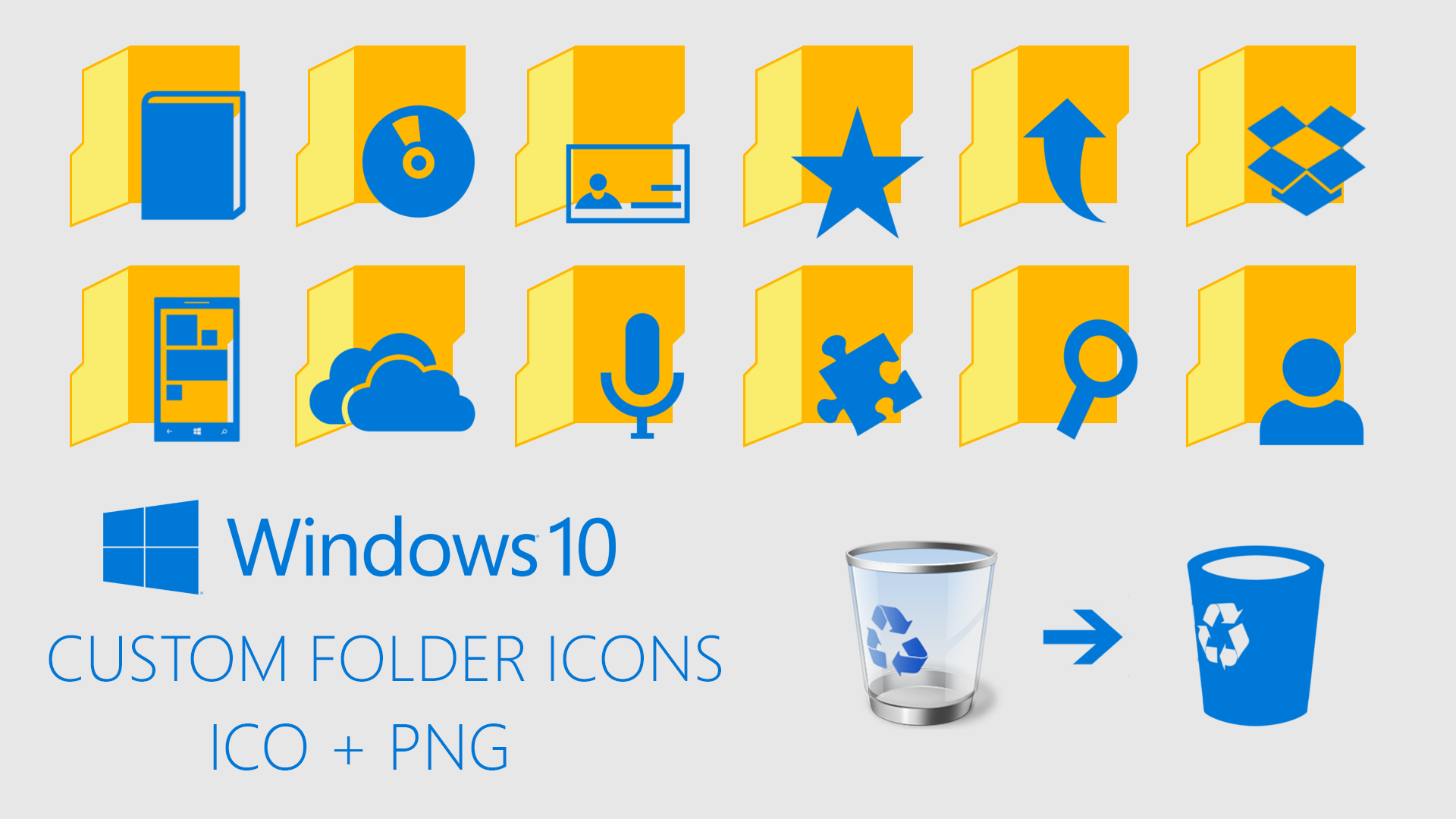 13 Custom Windows Folder Icons Images