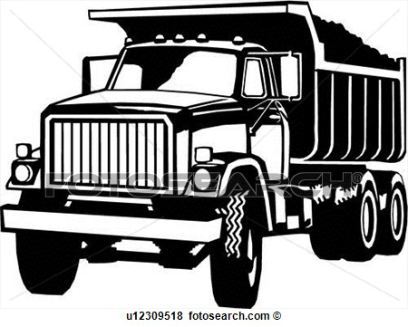 Dump Truck Clip Art Black and White
