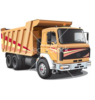 Dump Truck Vector Art