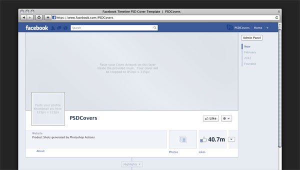 Facebook Cover Blank Template