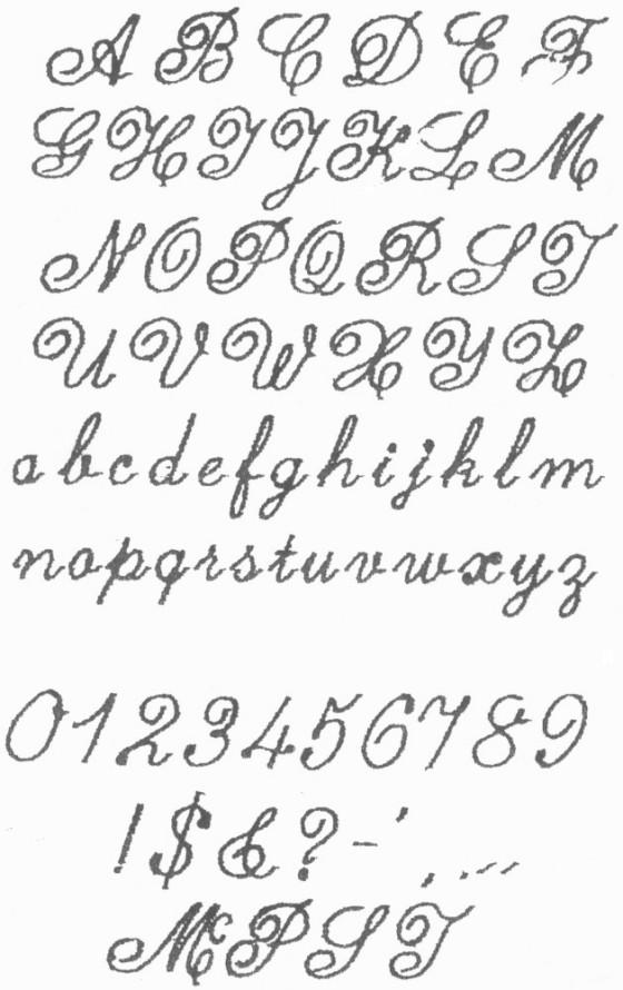 Fancy Cursive Fonts Alphabet