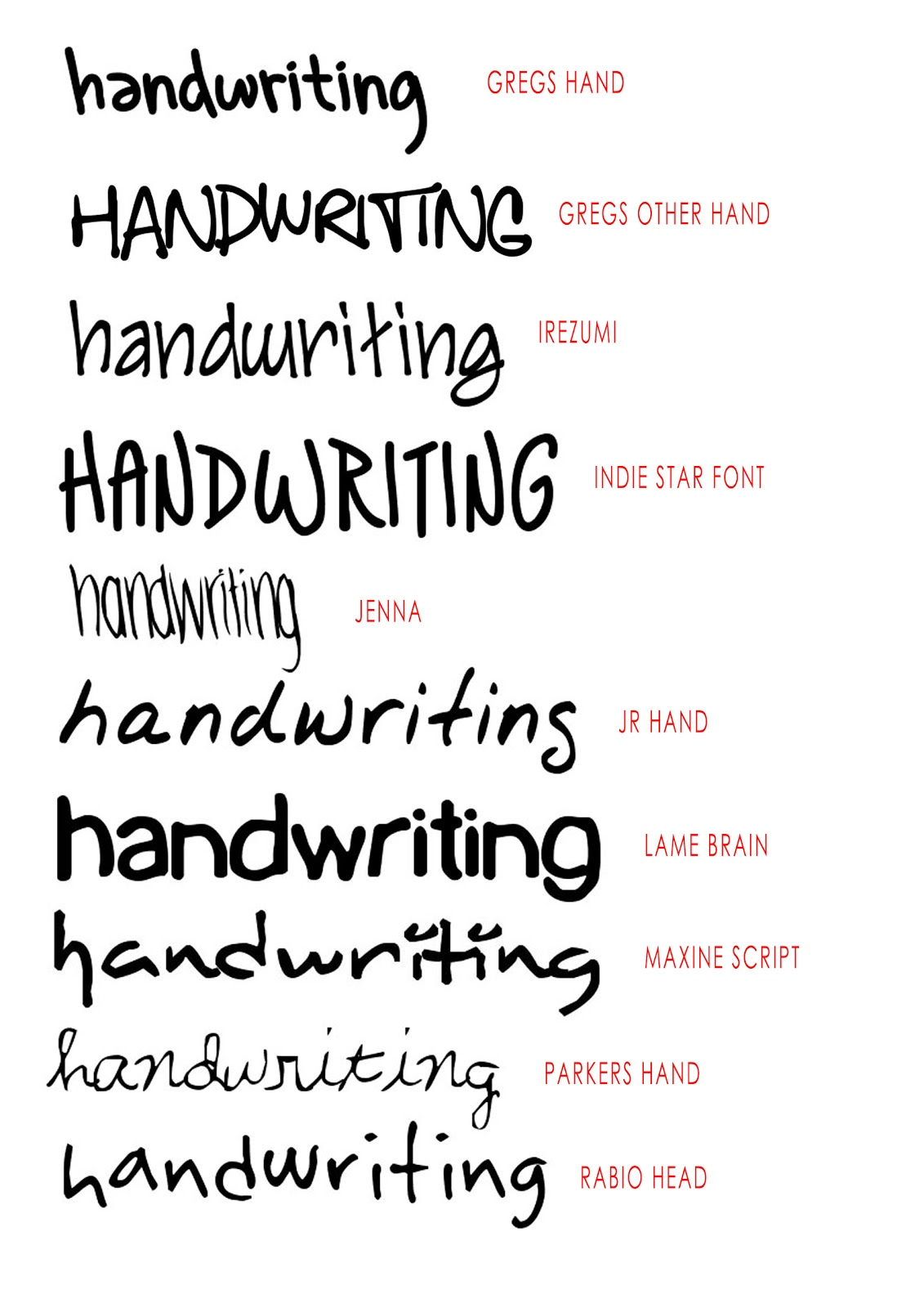 13 Good Handwriting Fonts Images