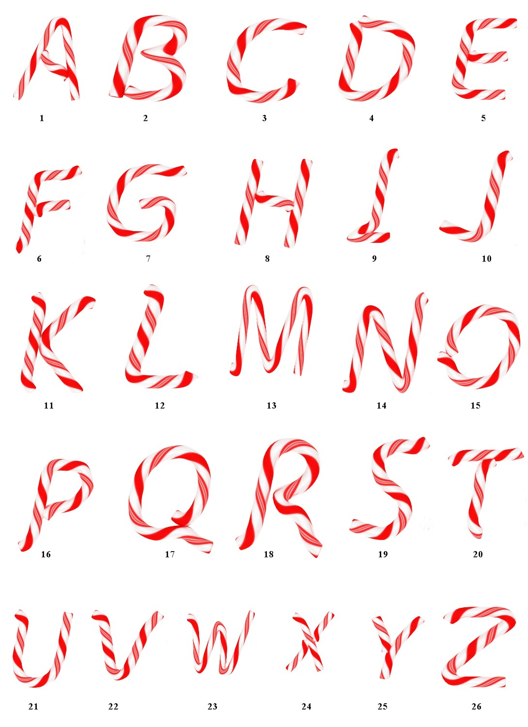 13 candy land letter font images free printable candy With candy cane alphabet letters
