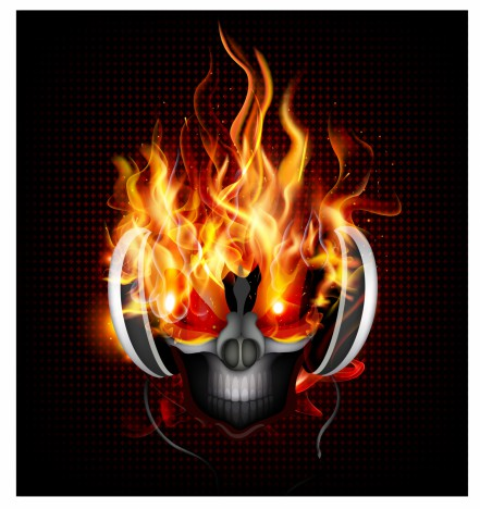 13 Fire Department Skull PSD Images