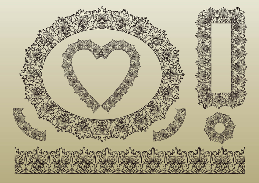 19 Free Lace Vector Art Images