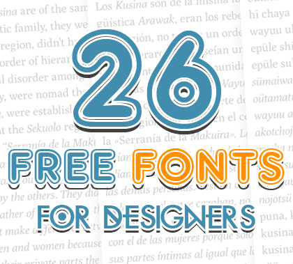 Rounded Fonts Free Download  Fonts  Graphic Design Junction