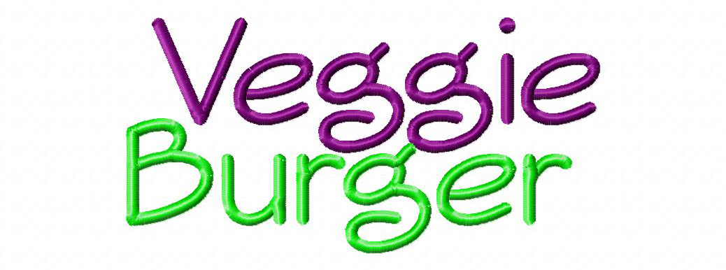 19 Veggie Burger Embroidery Font Images
