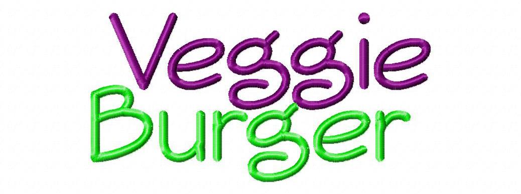 19 Veggie Burger Embroidery Font Images