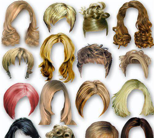 18 Photoshop PSD Old Hairs Images