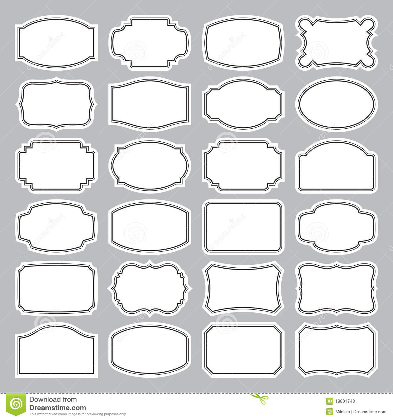 Blank Vector Calendar Template : Blank label vector images free printable labels