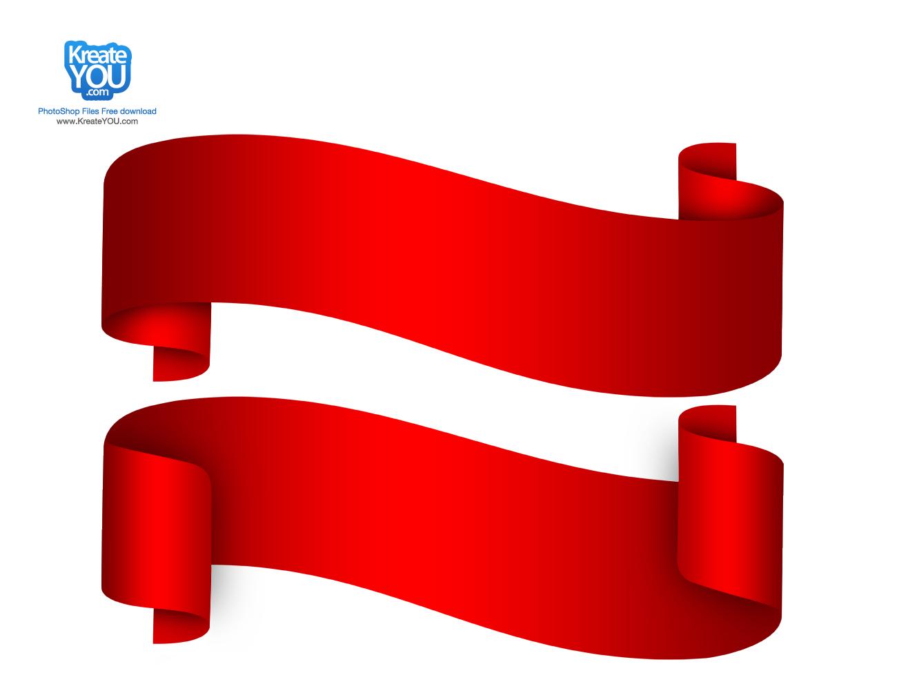 Free Red Ribbon Banner